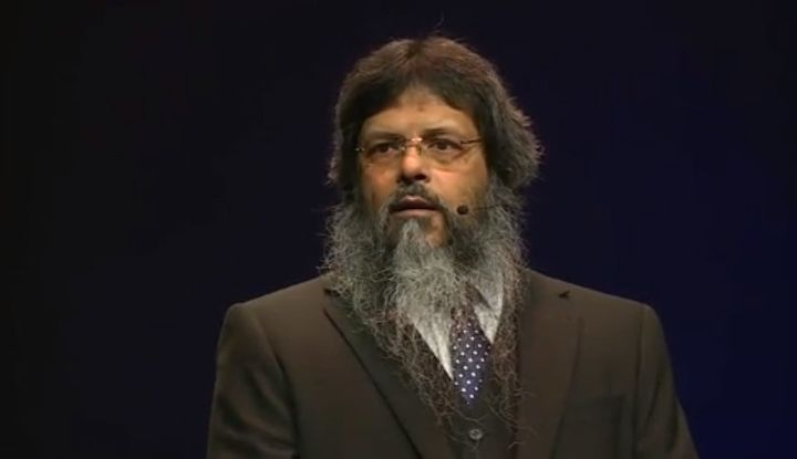 Manwar Ali speaks at a TEDxExeter talk.