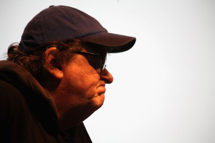 Michael Moore attends the MoveOn.org Movie Screening And Panel On Reducing Gun Violence at SVA Theater on March 23, 2013