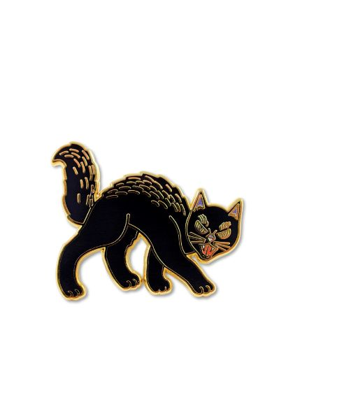 "Valley Cruise Black Cat Pin, $10, <a href=""http://www.forever21.com/Product/Product.aspx?br=F21&category=ACC&pro"