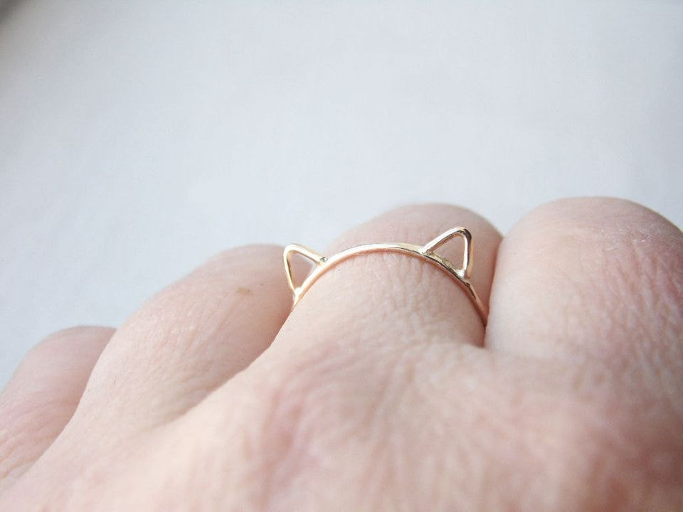 "Cat Ears Ring, $26,&nbsp;<a href=""https://www.etsy.com/listing/174728955/cat-ears-ring-cat-ring-14k-gold-fill?ga_order=most_r"