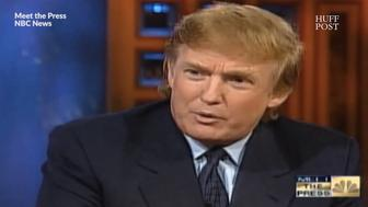 Donald Trump speaks with Tim Russert on Meet The Press in a 1999 interview