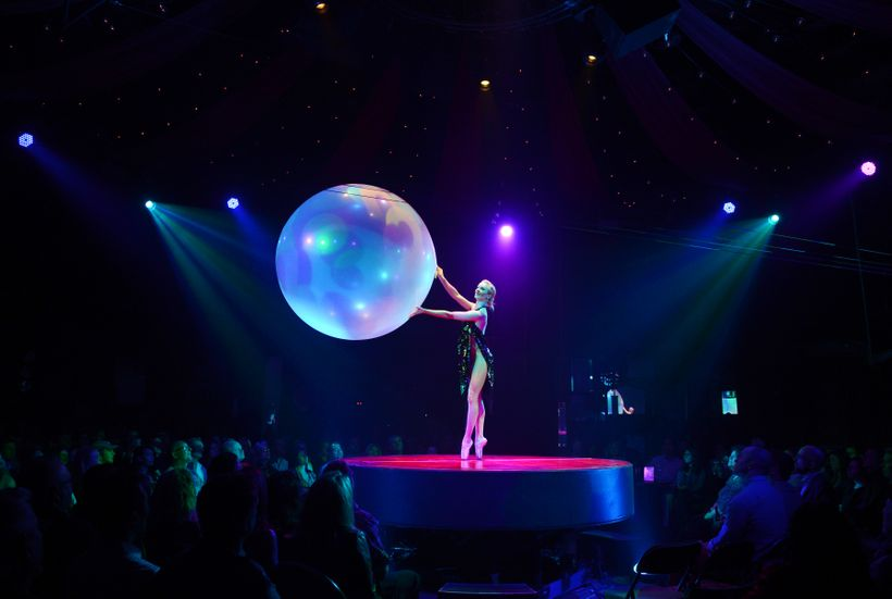 """Absinthe's """"Bubble Girl"""" Charlie Starling."""