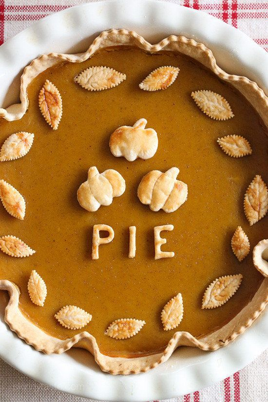 "Get the <a href=""http://www.skinnytaste.com/skinny-pumpkin-pie/"" target=""_blank"">Skinny Pumpkin Pie recipe</a> from Skinny Ta"