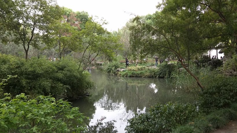 Water is a centerpiece of the Humble Administrator's Garden