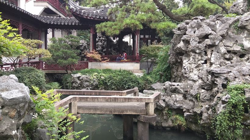 Rockery evokes mountains in Chinese gardens