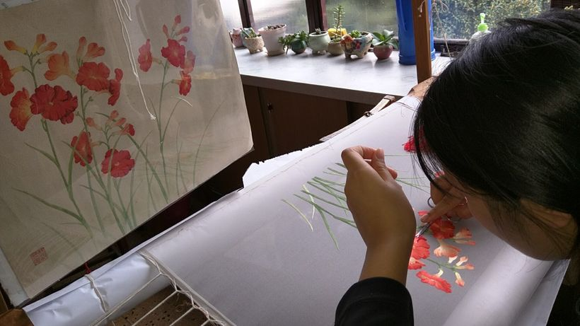 Fine embroidery is an art form in Suzhou