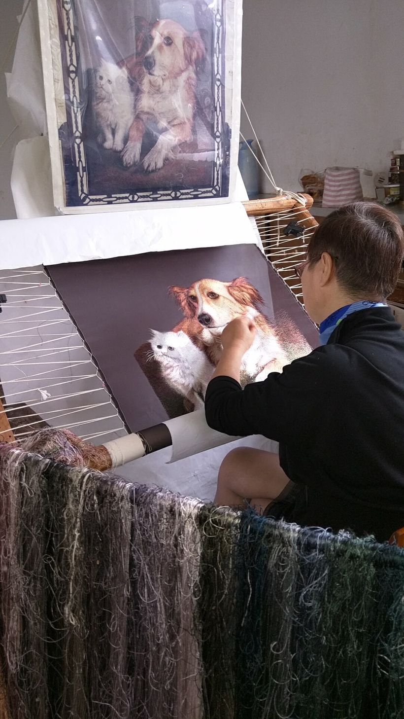 Animals and pets are popular embroidery subjects