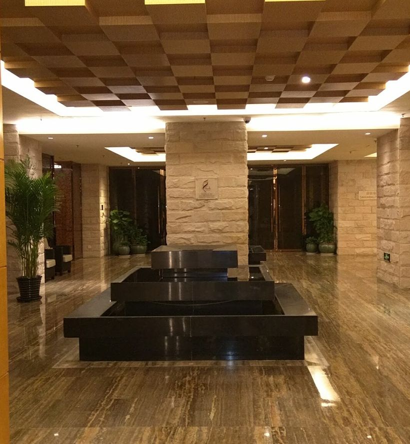 Lobby view of a luxury hotel