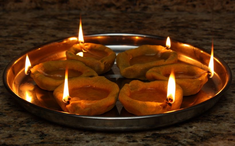 Homemade Diyas
