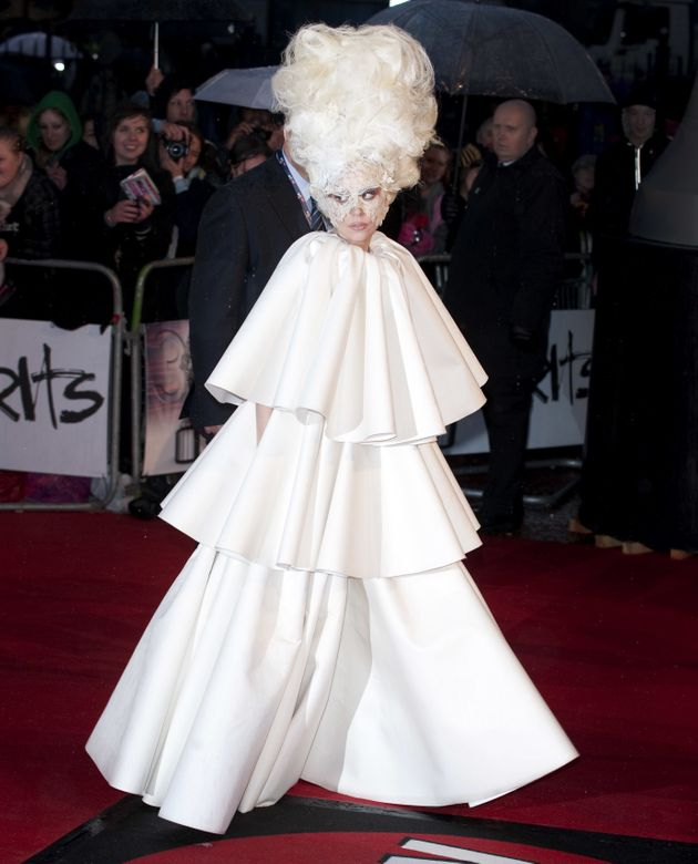 Lady Gaga arriving for the 2010 Brit