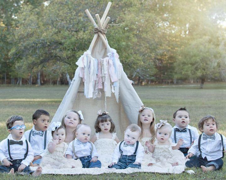 The 11 children in 2015.