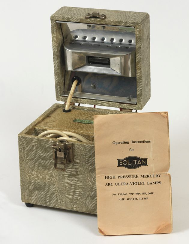 A portable sunlamp used in the war