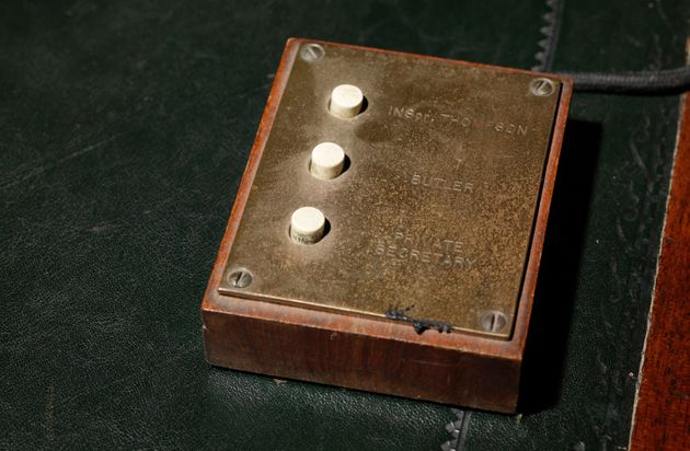 A set of buttons used by Churchill to call his