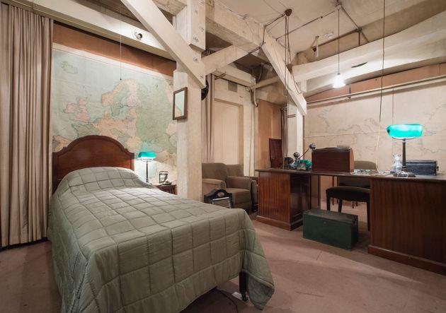 Churchill's bedroom in the underground