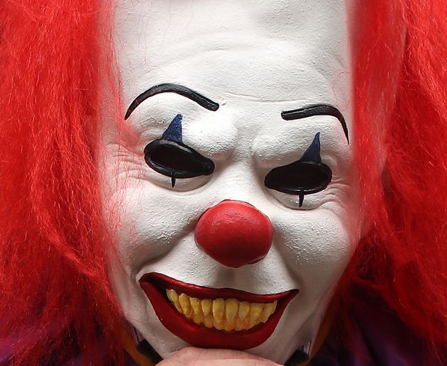 The victim was not recognised because of the killer clown mask he was wearing (file