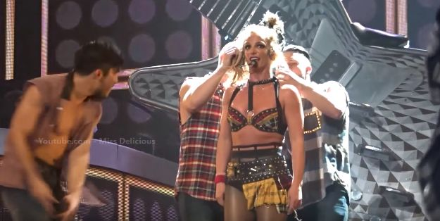 Britney's dancers do their best to save her from
