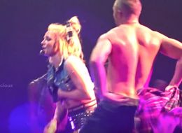 Oops!... Britney Spears' Dancer Comes To Her Rescue After Wardrobe Malfunction