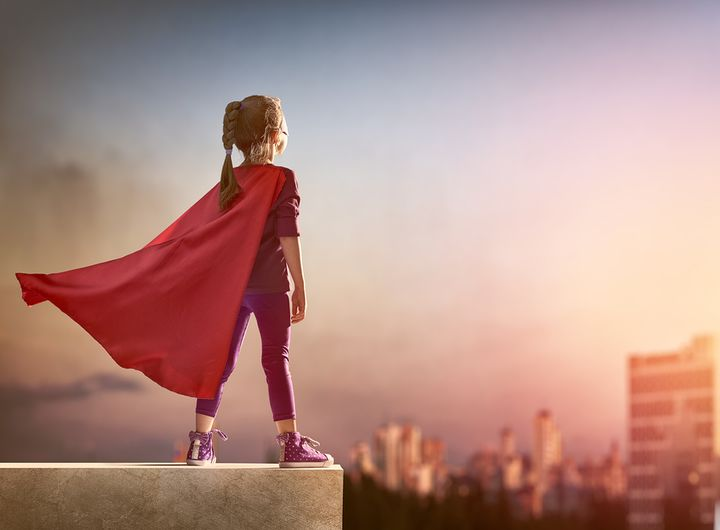 It's possible that superheroes can help bridge the gap that pink-versus-blue toys have created.