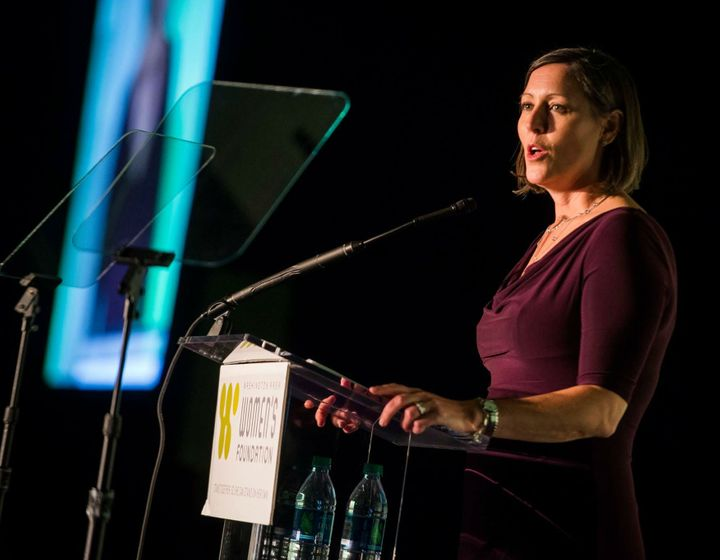 Washington Area Women's Foundation President & CEO Jennifer Lockwood-Shabat addressses 2016 Leadership Luncheon