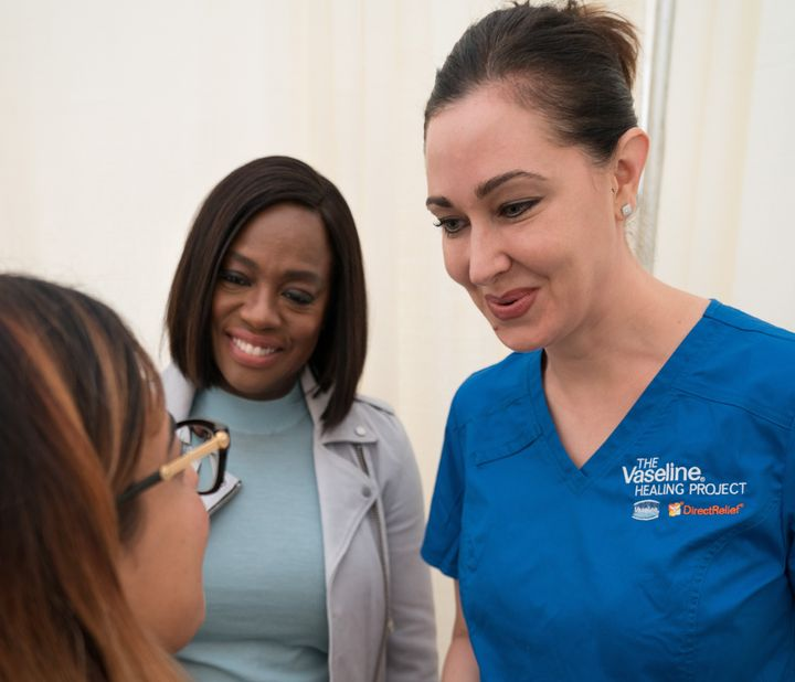 Viola Davis returned to her hometown to help provide the community with free healthcare guidance and screenings.