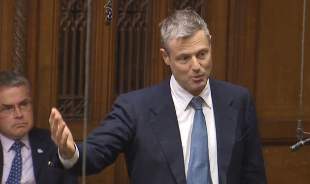 Zac Goldsmith speaks after a statement from Transport Secretary Chris Grayling on airport expansion in...