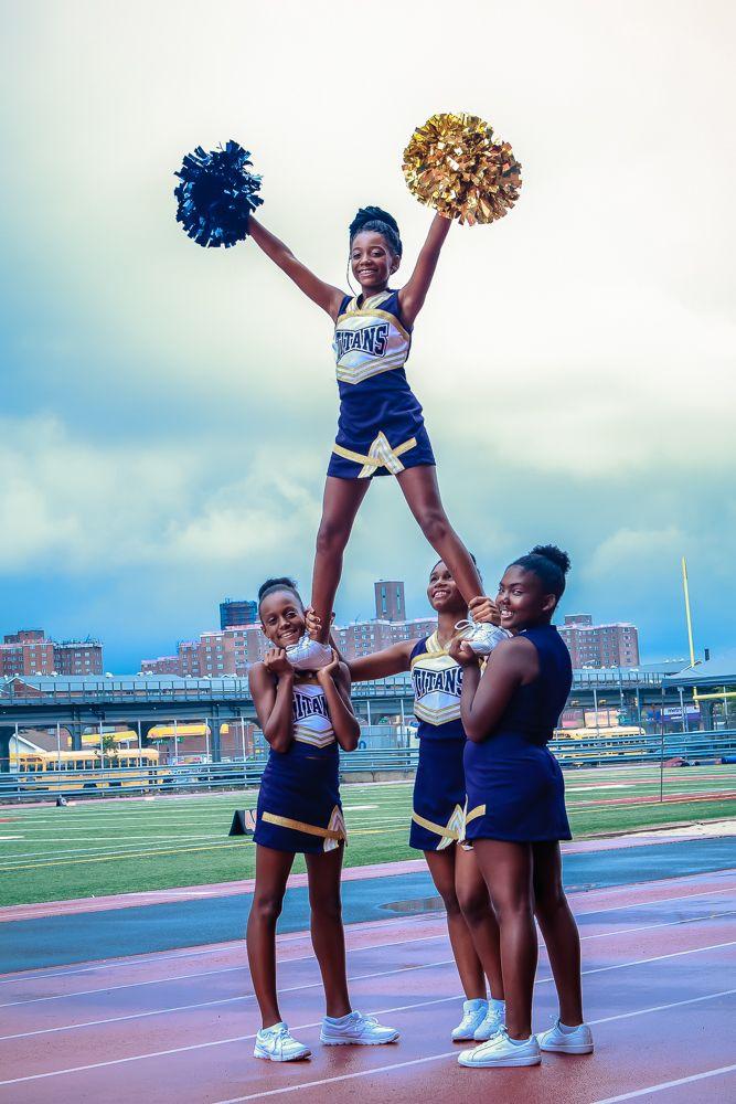 Members of the Brooklyn Titans Cheerleaders