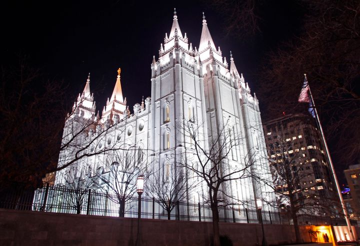 The LDS Church's Temple in downtown Salt Lake City, Utah.