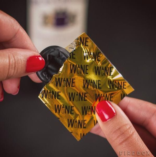 "Wine Condoms, $10, <a href=""https://www.amazon.com/CONDOMS-Wine-Beverage-Stoppers-Packaging/dp/B0145WJJVO/ref=sr_1_sc_1?ie=UTF8&amp;qid=1442262651&amp;sr=8-1-spell&amp;keywords=wine+condopms"" target=""_blank"">Amazon</a>"