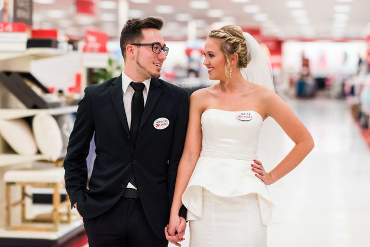 The Rexroads celebrated one year of marriage with a Target photo shoot.