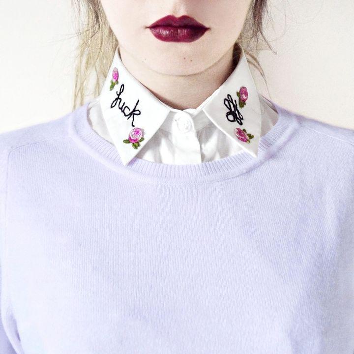Fck Off Collar, $27.40+, Etsy