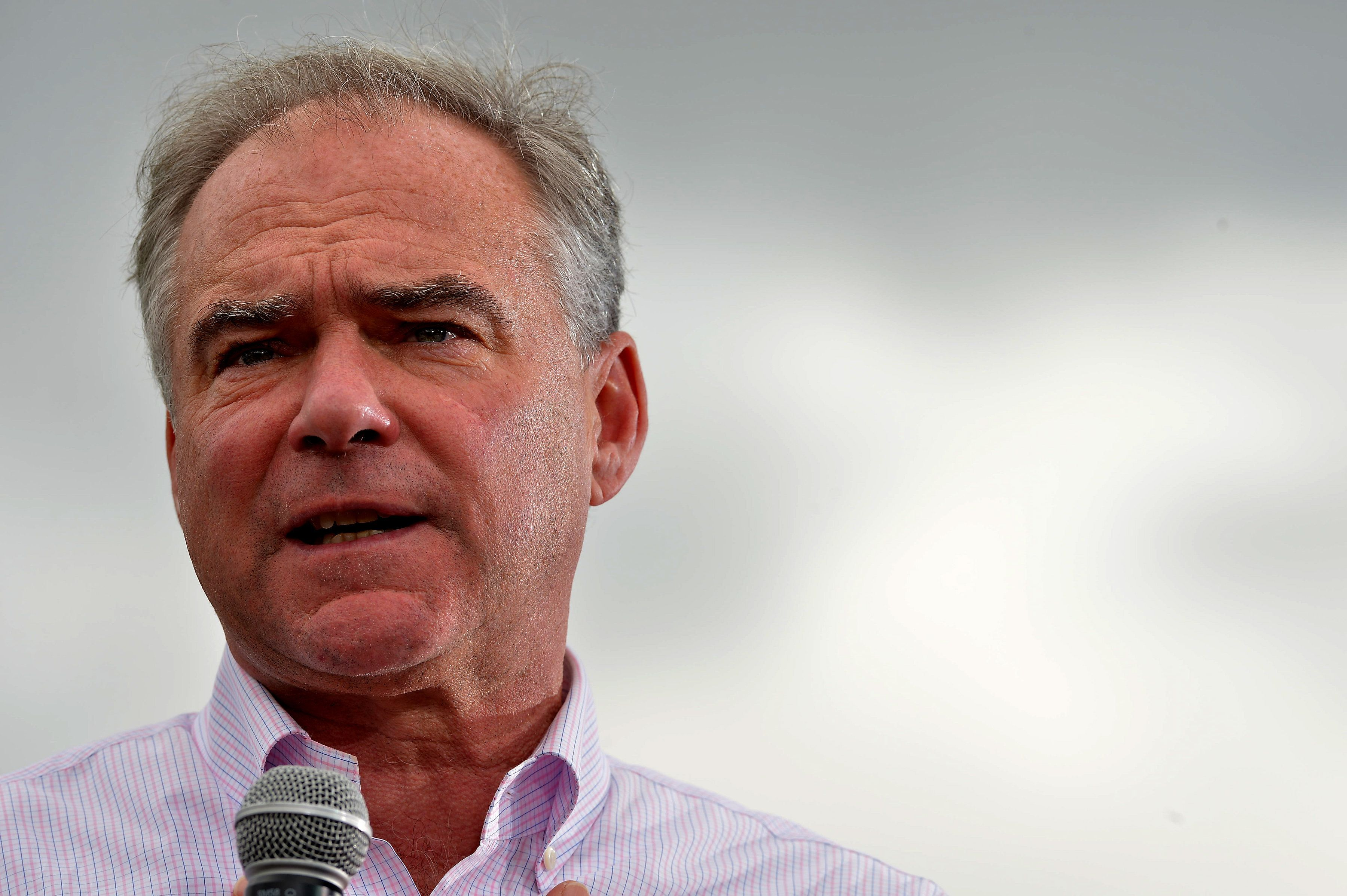 MIAMI, FL - OCTOBER 24:  Democratic vice presidential nominee U.S. Sen. Tim Kaine (D-VA) speaks during a campaign rally at Florida International University on October 24, 2016 in Miami, Florida. Senator Kaine urged Floridians to take advantage of early voting  (Photo by Johnny Louis/WireImage)