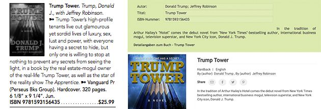 Advertising materials for the original <i>Trump Tower</i>.