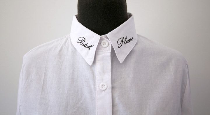 "Bitch Please Embroidered Collar Tips Shirt Blouse, $45, <a href=""https://www.etsy.com/listing/257360200/bitch-please-embroidered-collar-tips?ga_order=most_relevant&amp;ga_search_type=all&amp;ga_view_type=gallery&amp;ga_search_query=curse%20collar&amp;ref=sr_gallery_7"" target=""_blank"">Etsy</a>"