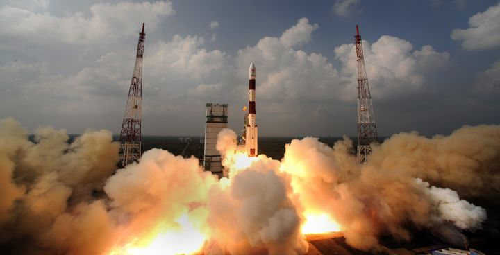India's Mars bound rocket and Mars satellite blasted off on November 5, 2013 from India's launch pad.