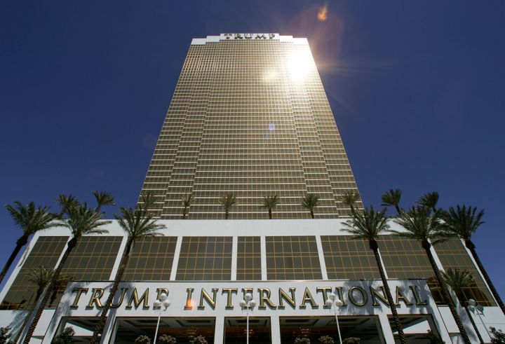 """A view of the Trump International Hotel & Tower Las Vegas during its official opening on April 11, 2008. If Trump has underestimated the hotel's value to pay lower taxes, other taxpayers are """"either going to have to pay higher taxes or put up with crummy services because he's not paying his fair share,"""" said law professor Richard Painter."""