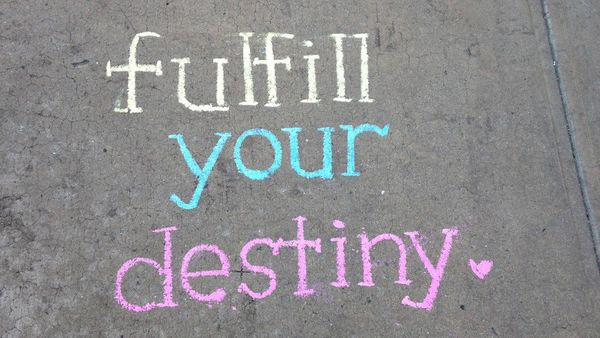 Sometimes, a little sidewalk wisdom can start you striding toward a life goal. Could it happen today?