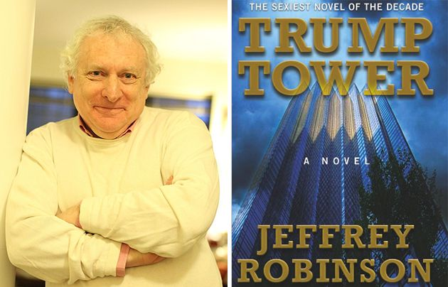 Jeffrey Robinson and the published version of <i>Trump Tower</i>.