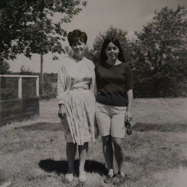 Grandma Belle and her eldest daughter, the author's mother, circa