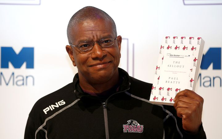 "Author Paul Beatty was honored for his book, ""The Sellout,"" a biting satire on race relations in America."