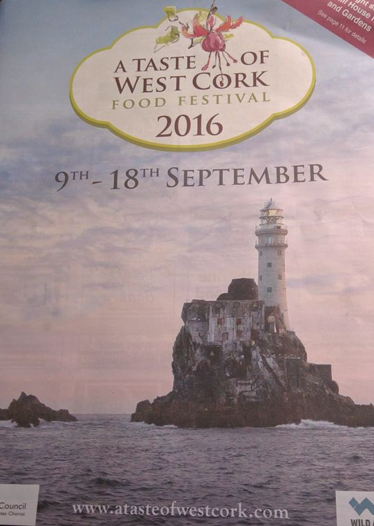 A multi-page program listed Taste of West Cork Events