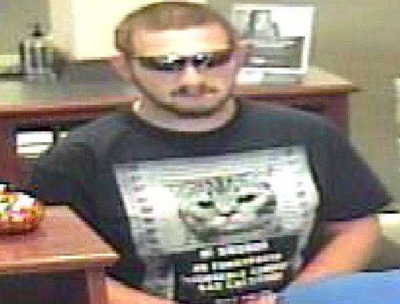 This man is accused of holding up a BancFirst location in Norman, Oklahoma.