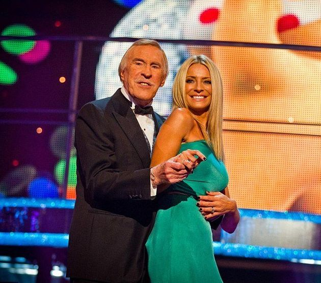 Bruce Forsyth with 'Strictly' co-host Tess