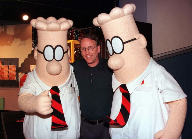 Scott Adams, the creator of 'Dilbert', the cartoon character that lampoons the absurdities of corporate