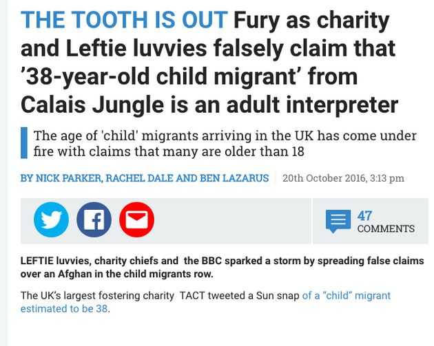 The Sun reported that 'leftie luvvies' had spread false claims about the identity of one of the child