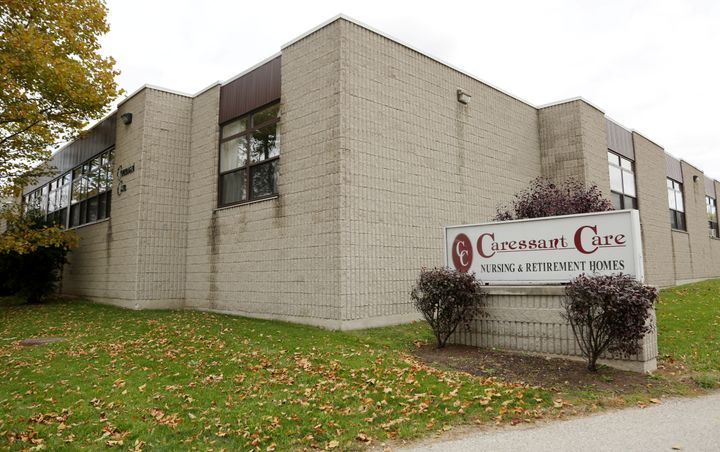 Seven of the eight victims resided at the Caressant Care nursing and retirement home, pictured, in Woodstock, Ontario.