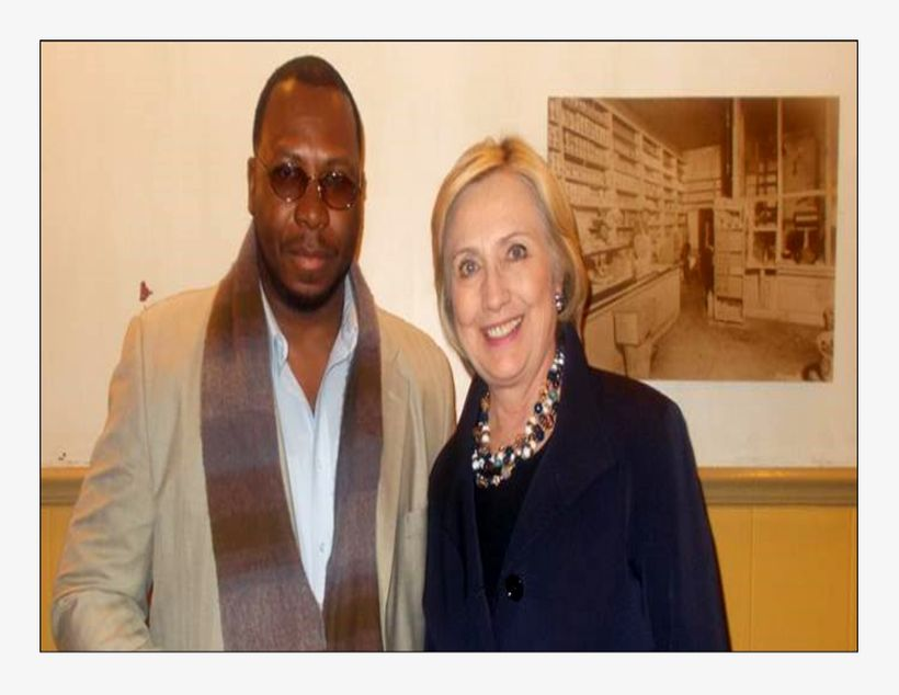 Hillary Clinton and I after Chicago meeting organized for Mothers of Police Brutality