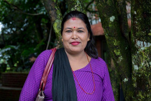 Saraswoti Maya Shrestha works as a Hygiene and Sanitation Promotor with KIRDARC. Kharelthok, Kavre,