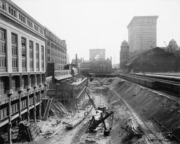 Excavation for Grand Central Terminal in New York City, circa 1908.