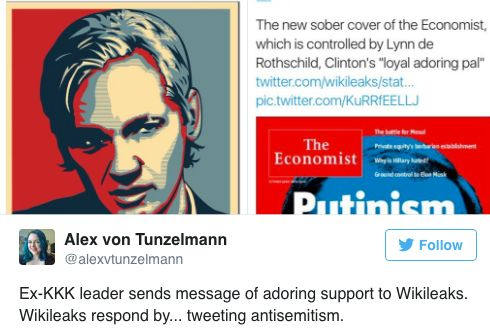 Wikileaks Is Embroiled In Yet Another Anti-Semitism