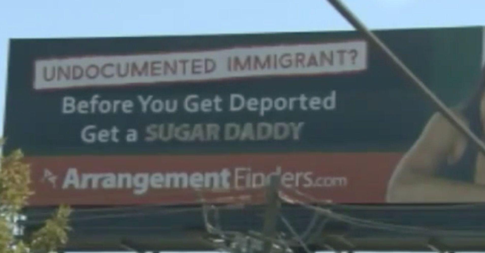 Sugar Daddy Website Removes Tasteless Billboard Targeting Immigrant